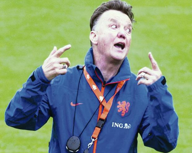It's like this: Louis van Gaal makes his point with Holland yesterday