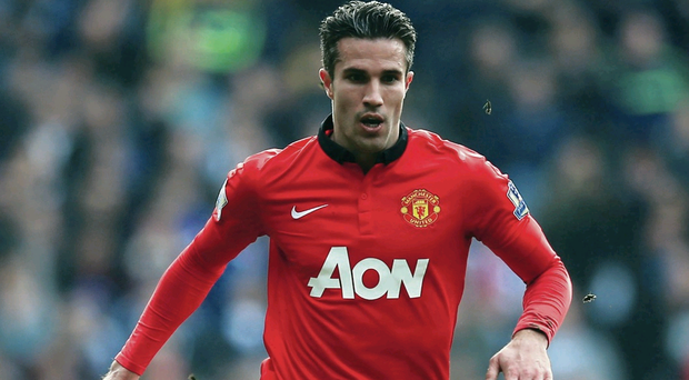 Double act: Robin van Persie has a close relationship with new United boss Louis van Gaal