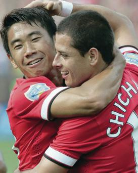 Moving on: Shinji Kagawa and Javier Hernandez may exit