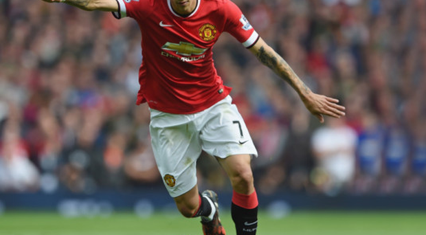 Look who's back: Angel di Maria is poised to return for Manchester United in this afternoon's clash with Stoke