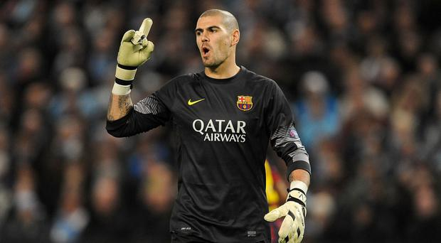 Honour: Victor Valdes signed a deal after regaining his fitness