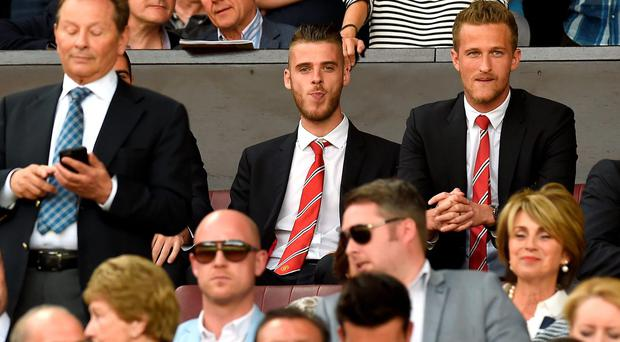 Watching brief: David de Gea will miss Manchester United's second game as transfer speculation continues