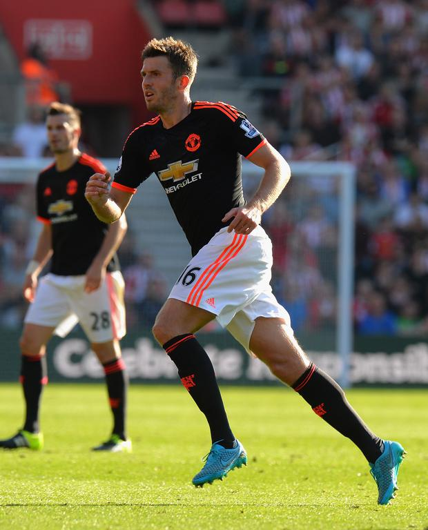 Opportunity: Michael Carrick is in line to face Arsenal