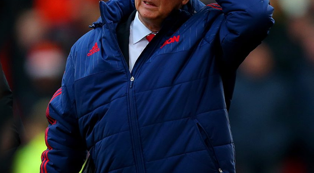 STOKE ON TRENT, ENGLAND - DECEMBER 26: Louis van Gaal, manager of Manchester United walks out for the second half of the Barclays Premier League match between Stoke City and Manchester United at Britannia Stadium on December 26, 2015 in Stoke on Trent, England. (Photo by Dave Thompson/Getty Images)