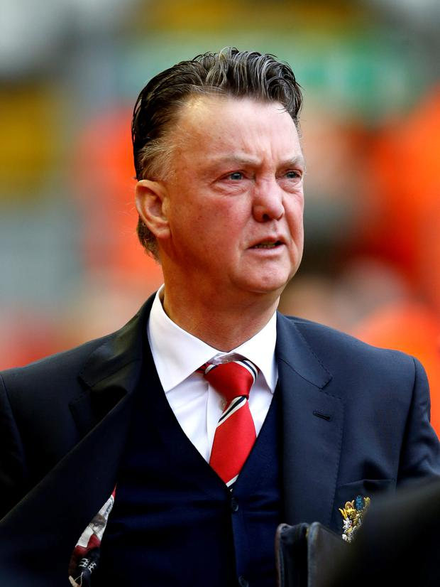 Look ahead: Louis van Gaal is said to be considering future