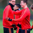 Chris Smalling and Paddy McNair