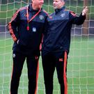 Top two: Manchester United boss Louis van Gaal and assistant Ryan Giggs have plenty to ponder after a disappointing season