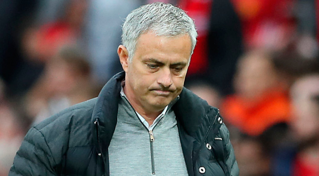 Lonely walk: Jose Mourinho was sent to the stands