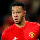 On his way: Memphis Depay underwhelmed at United