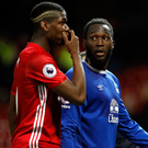 Good friends: Paul Pogba and Romelu Lukaku are neighbours in Manchester