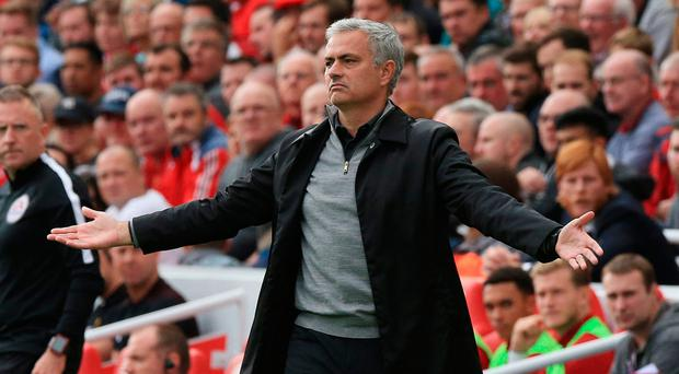The temporary one: Manchester United boss Jose Mourinho does not think he will end his managerial career at the club