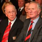 In attendance: Munich air disaster survivors Sir Bobby Charlton and Harry Gregg will pay their respects at Old Trafford
