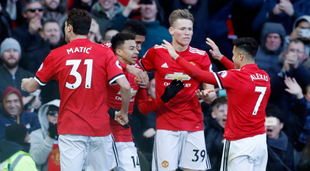 Jesse Lingard takes the acclaim after nodding United's winner