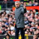 Fighting spirit: Mourinho defended United's season