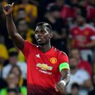 Spot on: Paul Pogba kept his cool to net a penalty