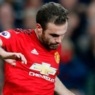 Early sub: Juan Mata came on for United after just 19 minutes