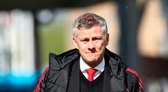 Big drop: Ole Gunnar Solskjaer will be in the Europa League