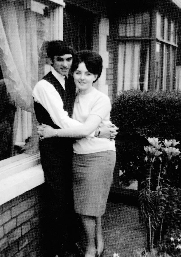 With his girlfriend Kay Williamson