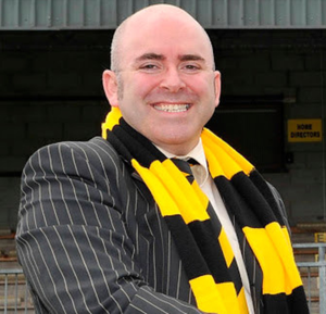 Bigger picture: Alloa chairman Mike Mulraney