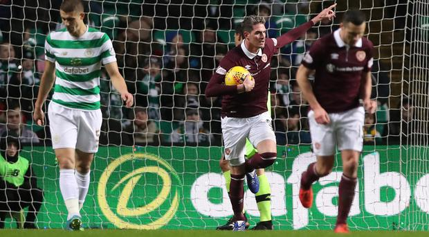 Familiar face: Kyle Lafferty during his spell at Hearts