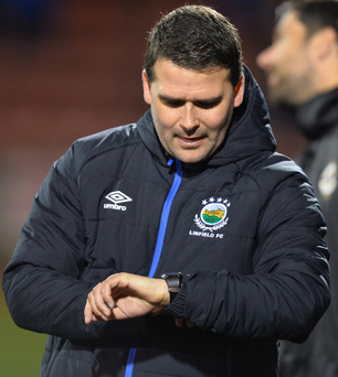 Watch out: David Healy was unhappy with several calls