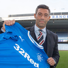 New face: Pedro Caixinha is unveiled as the new Gers boss