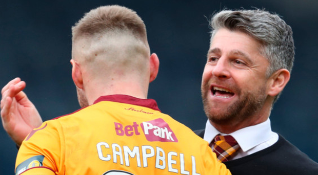 High hopes: Motherwell boss Stephen Robinson is aiming for an upset