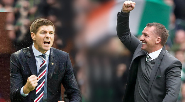 Familiar faces: Steven Gerrard and Brendan Rodgers will pit their wits against each other this season.