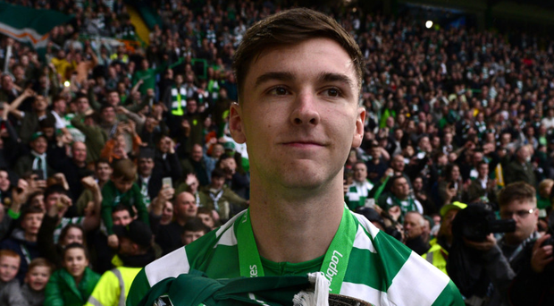In demand: Arsenal have had two bids for Kieran Tierney rejected by Celtic