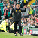 Carrying on: Neil Lennon has been leading by example since replacing Brendan Rodgers for his second Celtic spell