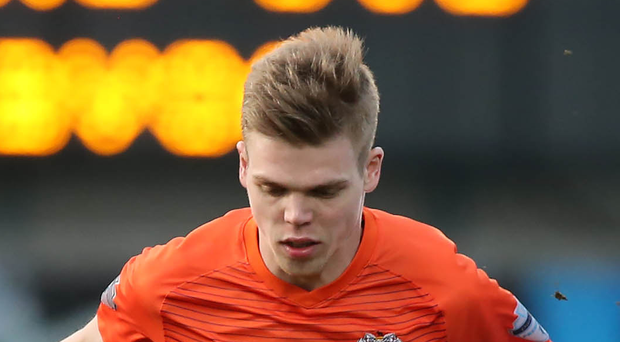 On target: Rhys Marshall netted for Glenavon