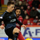 In control: Former Dons skipper Ryan Jack puts Rangers two goals to the good