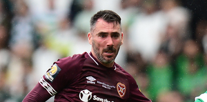 Former Ballymena United full-back Michael Smith started 23 of Hearts' 30 league games during the season.