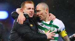 All change: Skipper Scott Brown is one of a number of big names Celtic boss Neil Lennon has left at home for tonight's clash