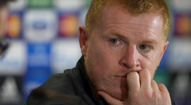 Celtic manager Neil Lennon during a press conference at Celtic Park, Glasgow. PRESS ASSOCIATION Photo. Picture date: Monday September 30, 2013. Celtic face Barcelona in their UEFA Champions League match tomorrow night. See PA story SOCCER Celtic. Photo credit should read: Jeff Holmes/PA Wire