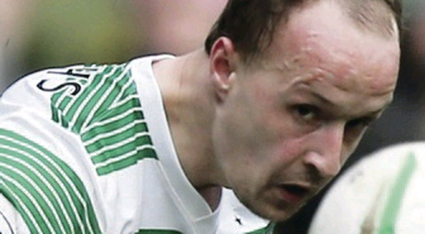 Off the mark: Leigh Griffiths scored opener against Hearts