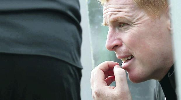 On the sidelines: Neil Lennon will not be rushing back into management until the time, and the offer, is right for him