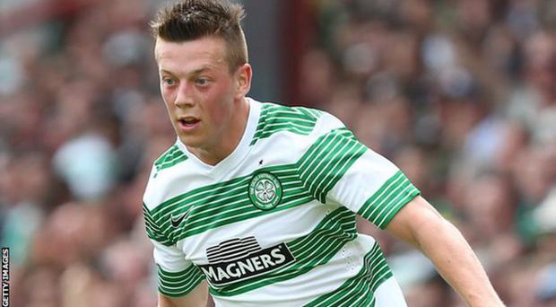 Celtic's goal scorer Callum McGregor in action last night