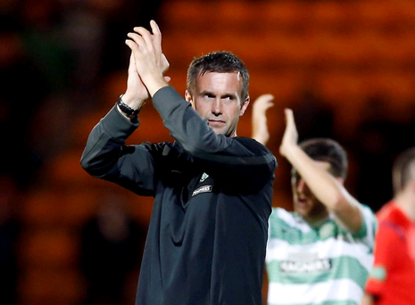 Positive: Ronny Deila was pleased with Celtic's performance