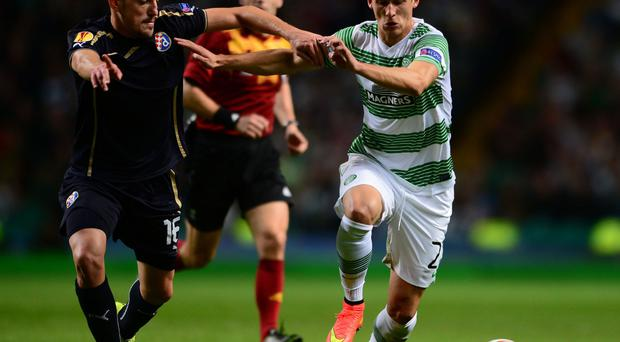 Support: Celtic are backing Alexander Tonev despite ban being upheld