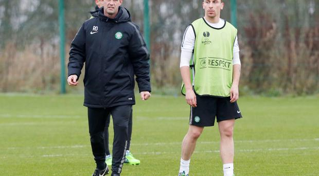 Poised: Ronny Deila and Scott Brown believe already-qualified Salzburg will still pose a threat