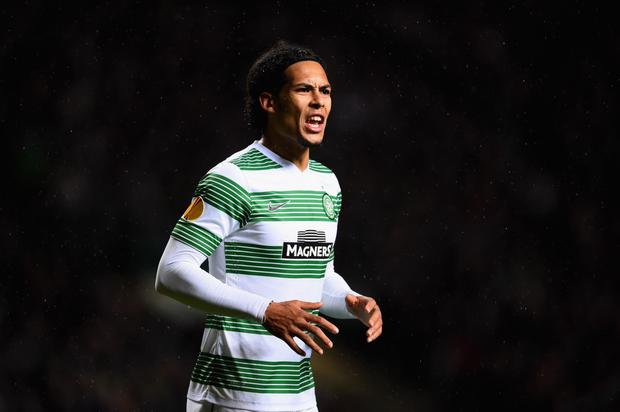 Staying focused: Virgil van Dijk is happy at Celtic