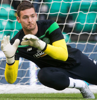 Safe hands: Craig Gordon has signed a new deal at Celtic