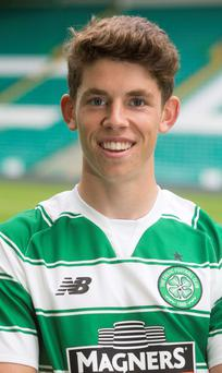 Celtic new signing Ryan Christie at Celtic Park