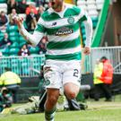 Big impact: Patrick Roberts hit a double against Hearts