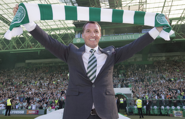 High praise: Brendan Rodgers has been making a positive impact at Celtic