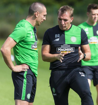 High standard: Scott Brown and Brendan Rodgers
