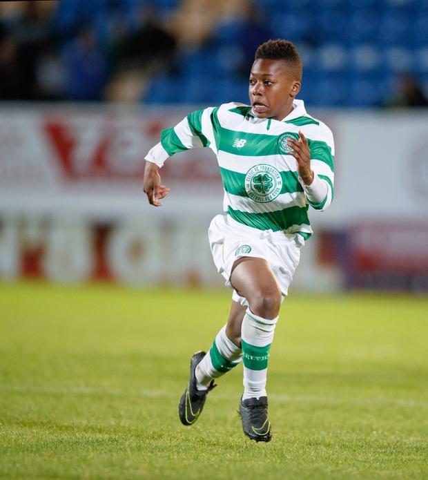 Big impact: 13-year-old Karamoko Dembele played for Celtic's Under-20