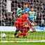 Late show: Moussa Dembele scores past Rangers keeper Matt Gilks to give Celtic a 1-0 win at Hampden Park yesterday