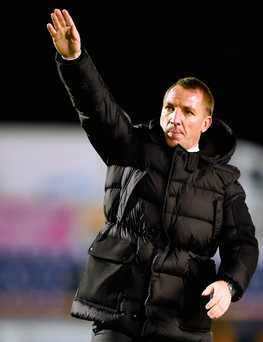 Blasting back: Celts boss Brendan Rodgers said critic Jason Cundy had shown his 'ignorance' and 'lack of knowledge'